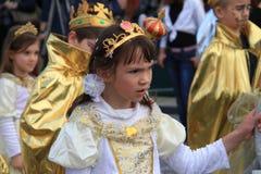 Kinderen. Carnaval in Cyprus. Stock Afbeeldingen