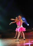 Kinderen in de dansprestaties Stock Foto