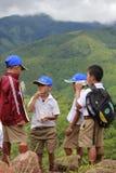 Kinderen in de Heuvel Stock Afbeelding