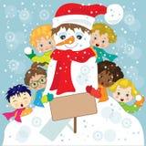 Kinderen in de sneeuw Royalty-vrije Stock Foto