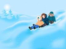 Kinderen in de winter Stock Foto