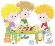 Kinderen die Controleurs spelen royalty-vrije illustratie