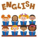 Kinderen die een Engelse studie maken royalty-vrije illustratie