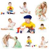 Kinderen die en potloden schilderen trekken Royalty-vrije Stock Fotografie