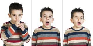 Kinderen die hoesten Stock Afbeelding