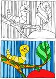Kinderen die illustratie kleuren Royalty-vrije Stock Fotografie