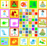 Kinderen die, jonge geitjeswereld spelen vector illustratie