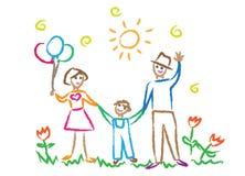 Kinderen die multicolored symbolen vectorreeks trekken Royalty-vrije Stock Foto's