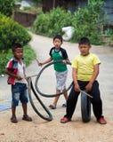 Kinderen die Nepal spelen Stock Foto