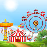 Kinderen die pret hebben in Carnaval vector illustratie