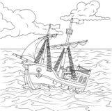 Kinderen die schip varen stock illustratie