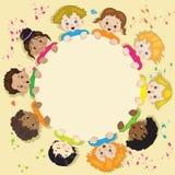 Kinderen in een cirkel Stock Foto's
