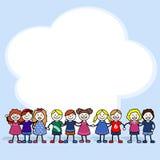Kinderen in een wolk Stock Afbeeldingen