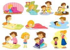 Kinderen en activiteiten royalty-vrije illustratie