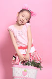 Kinderen en bloemen Stock Foto
