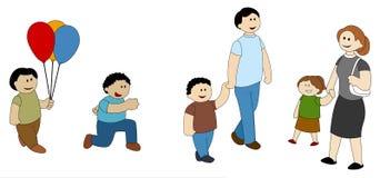 Kinderen en Ouders die Pret hebben Vector Illustratie