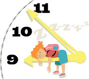 Kinderen en slaap stock illustratie