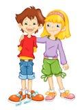 Kinderen en vriendschap Stock Afbeelding