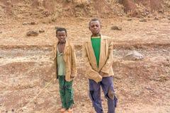 Kinderen in Ethiopië Stock Afbeeldingen