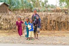 Kinderen in Ethiopië Stock Foto