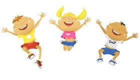 Kinderen gelukkige vakantie Stock Foto's