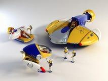 Kinderen geplaatst speelgoed Royalty-vrije Stock Afbeeldingen