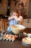 Kinderen het bakken Stock Foto