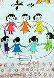 kinderen het dansen Royalty-vrije Stock Afbeelding