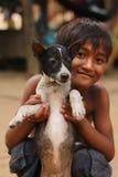 Kinderen in het dorp Stock Foto