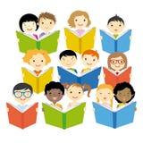 Kinderen het Lezen stock illustratie