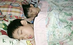 Kinderen het slapen royalty-vrije stock foto's