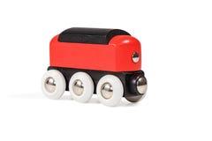 Kinderen houten locomotief Stock Afbeeldingen
