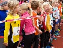 Kinderen klaar te lopen Royalty-vrije Stock Foto