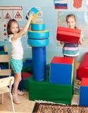 Kinderen in kleuterschool Royalty-vrije Stock Afbeeldingen