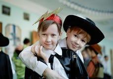 Kinderen in kostuum Royalty-vrije Stock Afbeeldingen