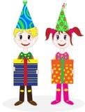 Kinderen in kostuumsclown. Royalty-vrije Stock Fotografie