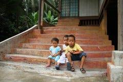 Kinderen in Maleisië stock afbeelding