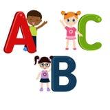 Kinderen met ABC Stock Afbeelding