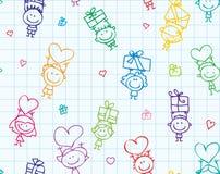 Kinderen met giftentextuur royalty-vrije illustratie