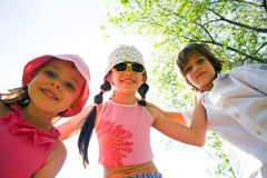 Kinderen met glimlach Stock Foto