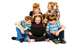 Kinderen met Laptop Royalty-vrije Stock Fotografie