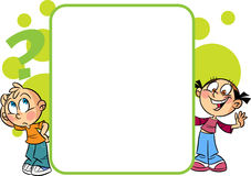 Kinderen nearboard vector illustratie