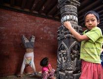 Kinderen Nepal Stock Afbeeldingen