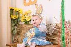 Kinderen in Oekraïens nationaal kostuum Stock Fotografie