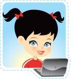 Kinderen op computer Royalty-vrije Stock Afbeeldingen