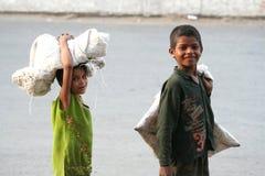 Kinderen op het werk Royalty-vrije Stock Afbeelding
