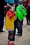 Kinderen op Padfestival stock foto's