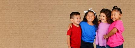 Kinderen op school stock foto's