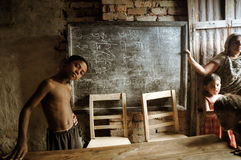 Kinderen op school in Bangladesh Stock Foto's