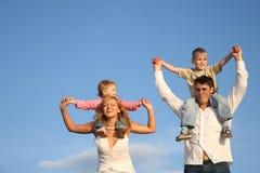 Kinderen op schouders Stock Afbeelding